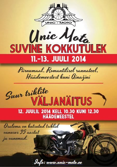 Unic-Moto kokkutuleku plakat. Foto: Unic-Moto